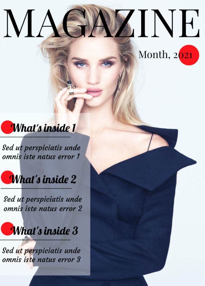 Fashion Magazine Front Page Template for Google Docs