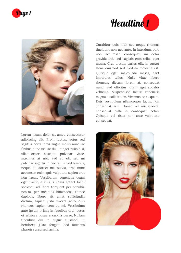Fashion Magazine Article Template for Google Docs