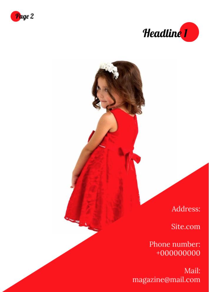 Fashion Magazine Last Page Template for Google Docs