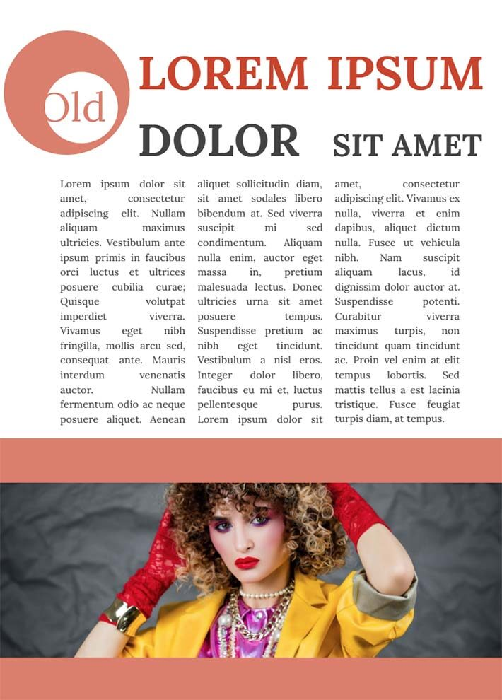 80s Old Fashioned Magazine Page 3 Template for Google Docs