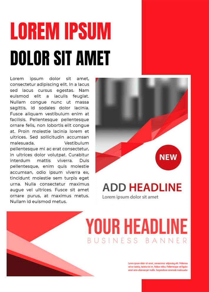 Ad Magazine Page 2 Template for Google Docs