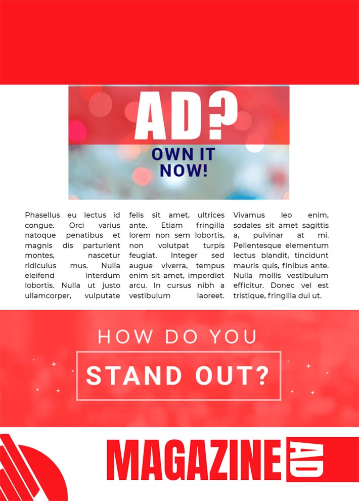 Ad Magazine Page 3 Template for Google Docs