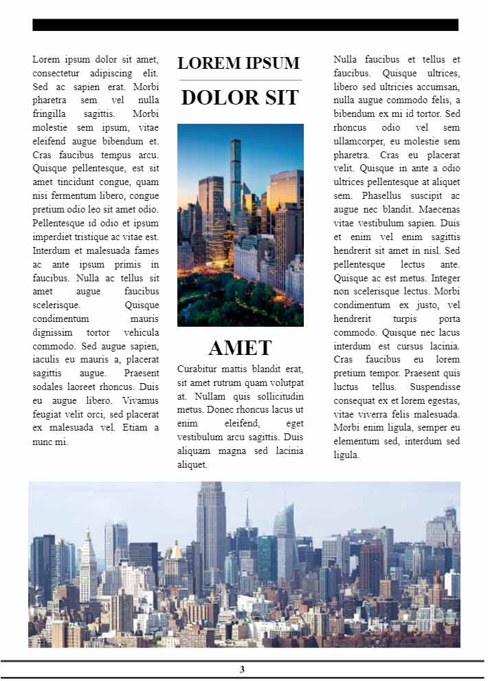 New York Times Newspaper Page 3 Template for Google Docs