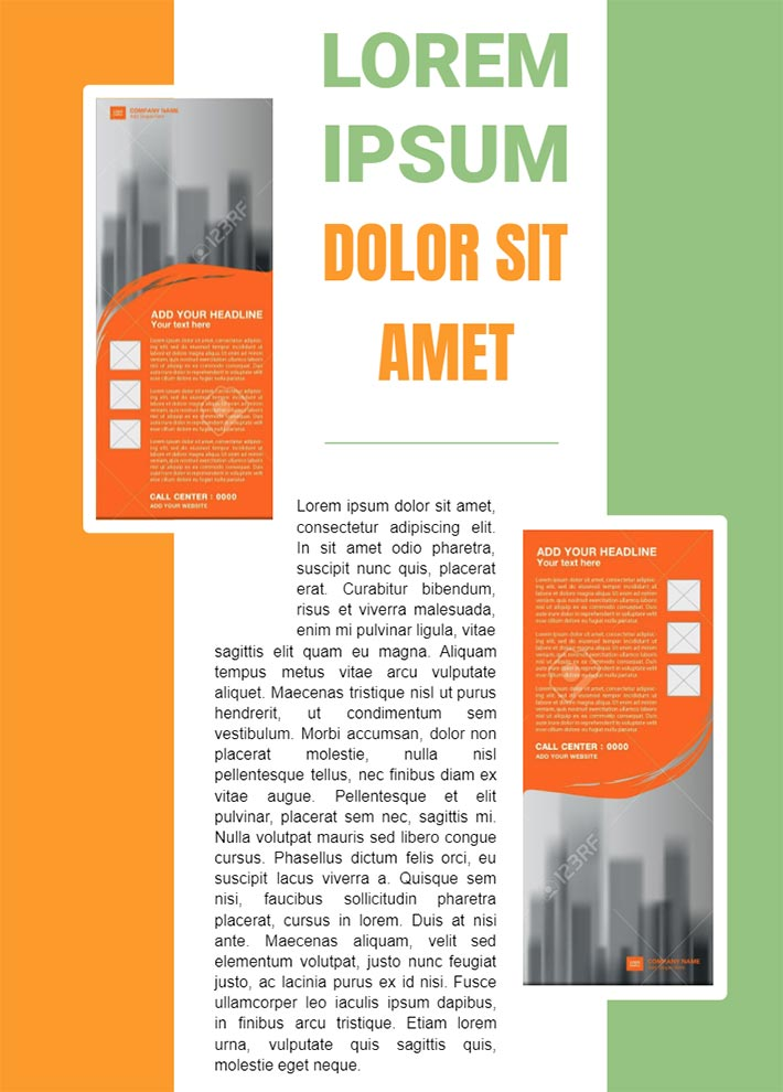 Colourful Magazine AD Page 3 Template for Google Docs