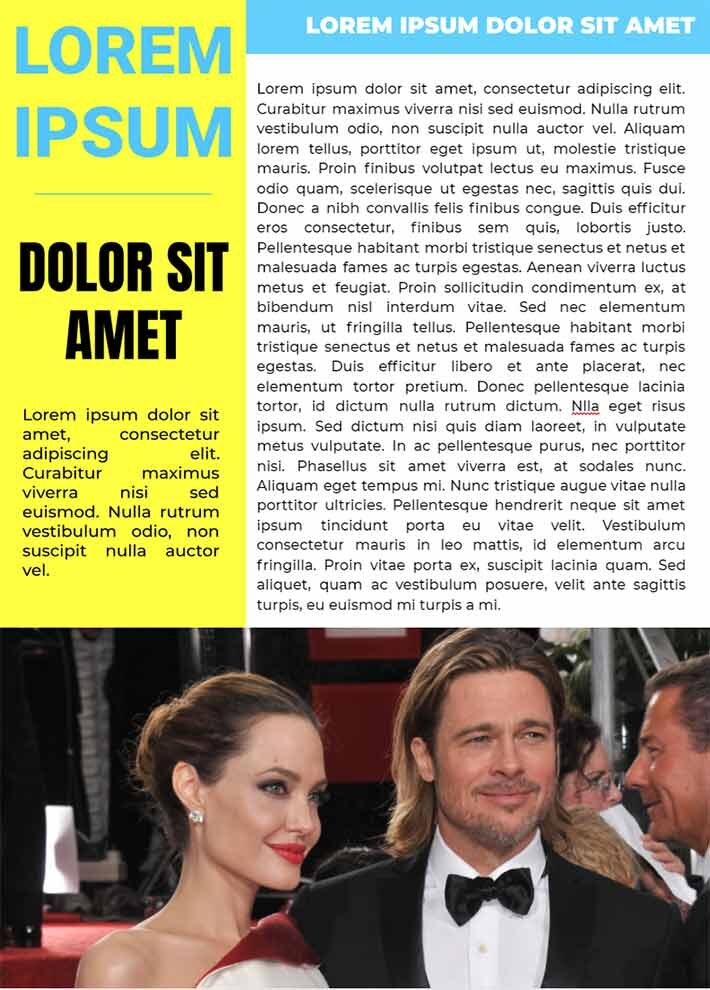 People Magazine Design Page 2 Template for Google Docs
