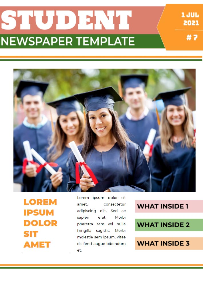 Student Newspaper Template for Google Docs
