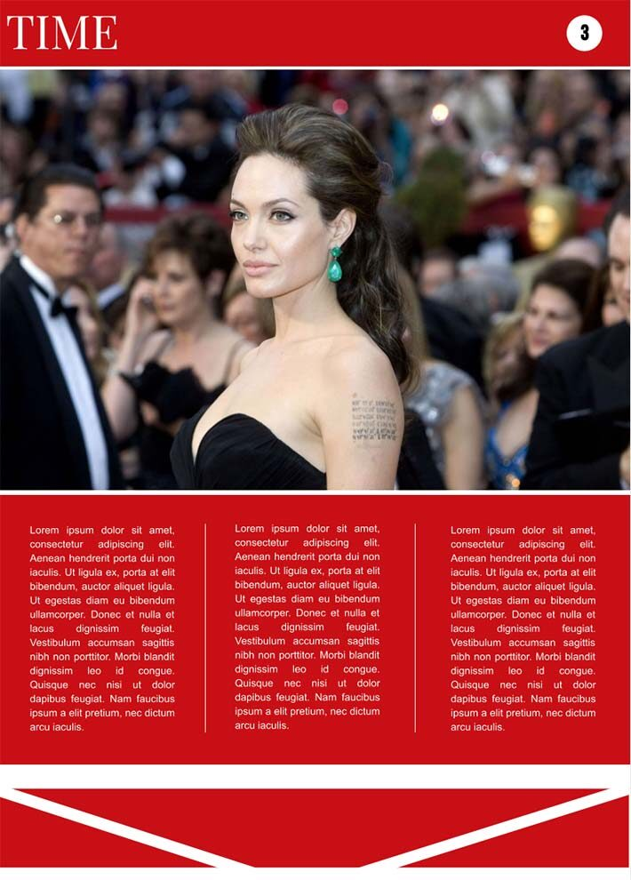Time Magazine Page 3 Template for Google Docs