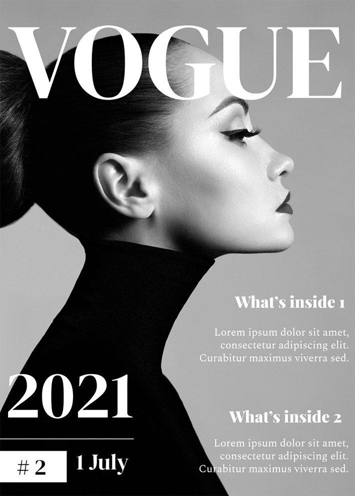 Classic Vogue Magazine Template for Google Docs