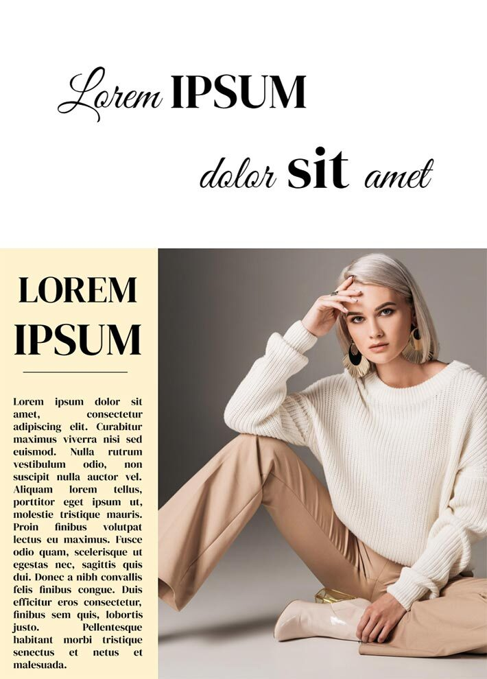 Classic Vogue Magazine Page 3 Template for Google Docs