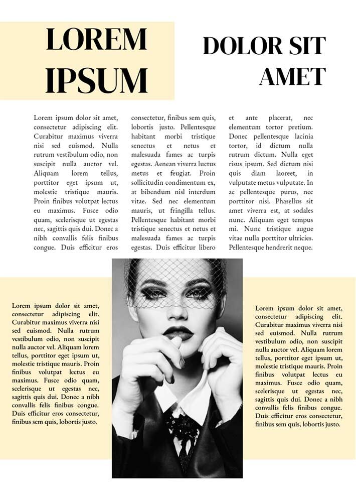 Vogue Magazine Page 2 Template for Google Docs