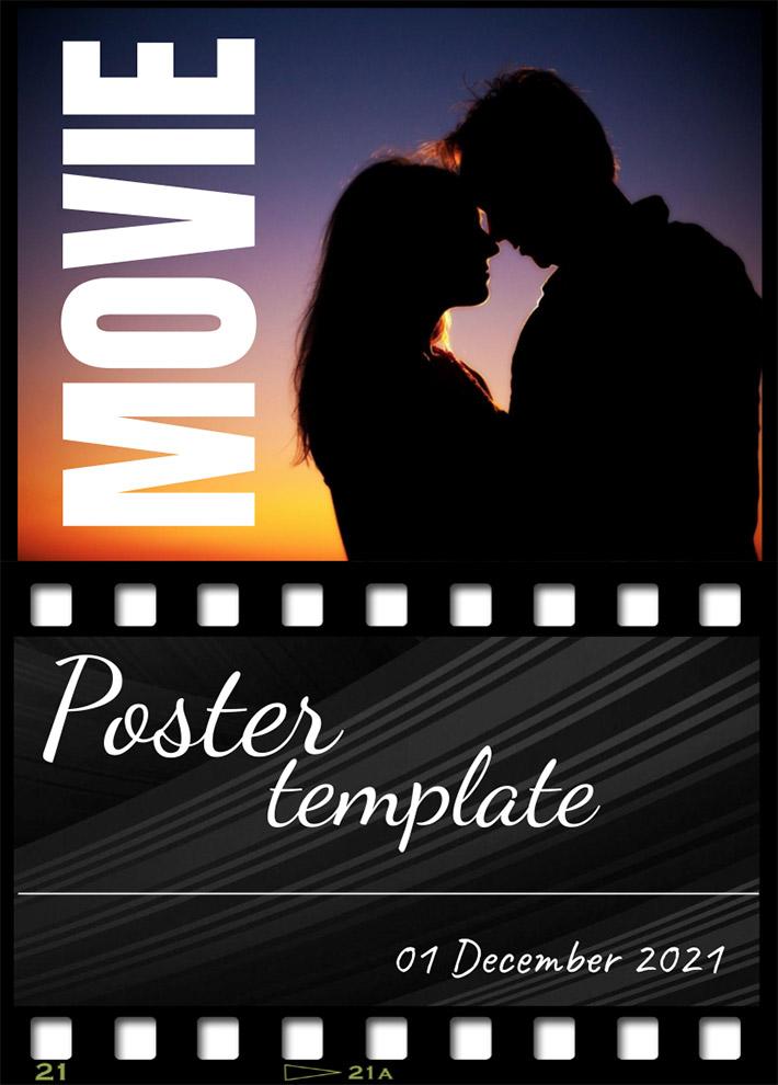Dark Movie Poster Template for Google Docs