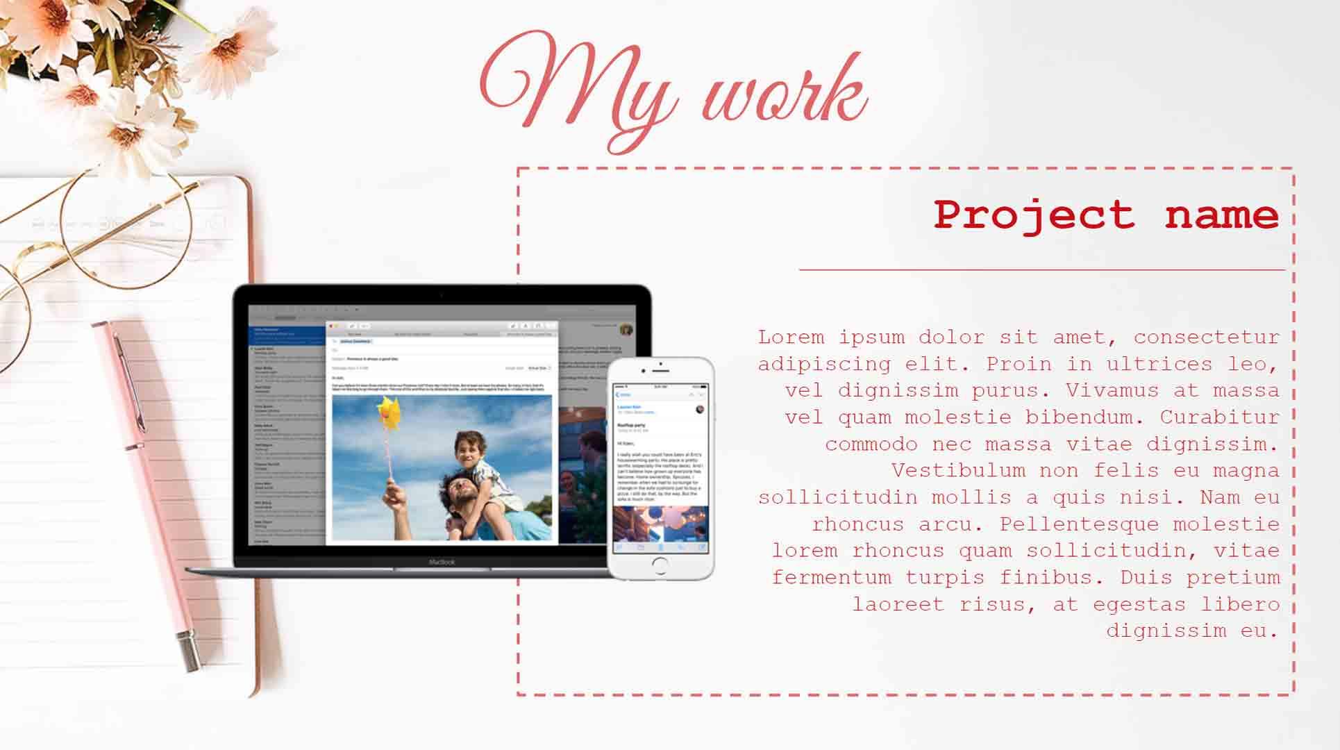 Designer Portfolio Page 6 Template for Google Slides