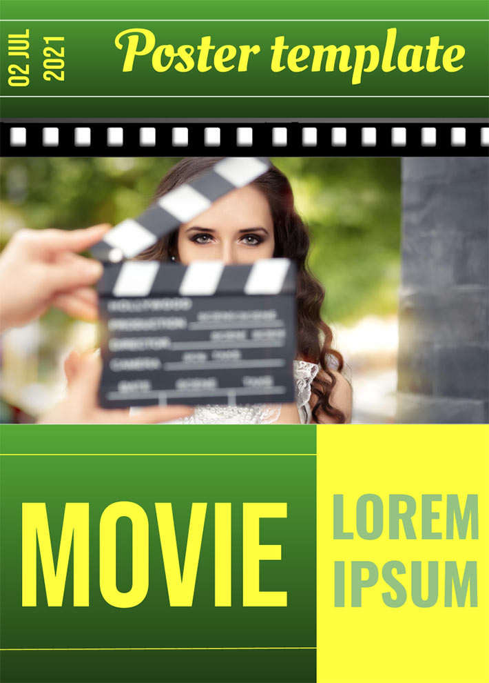 Poster Movie Template for Google Docs