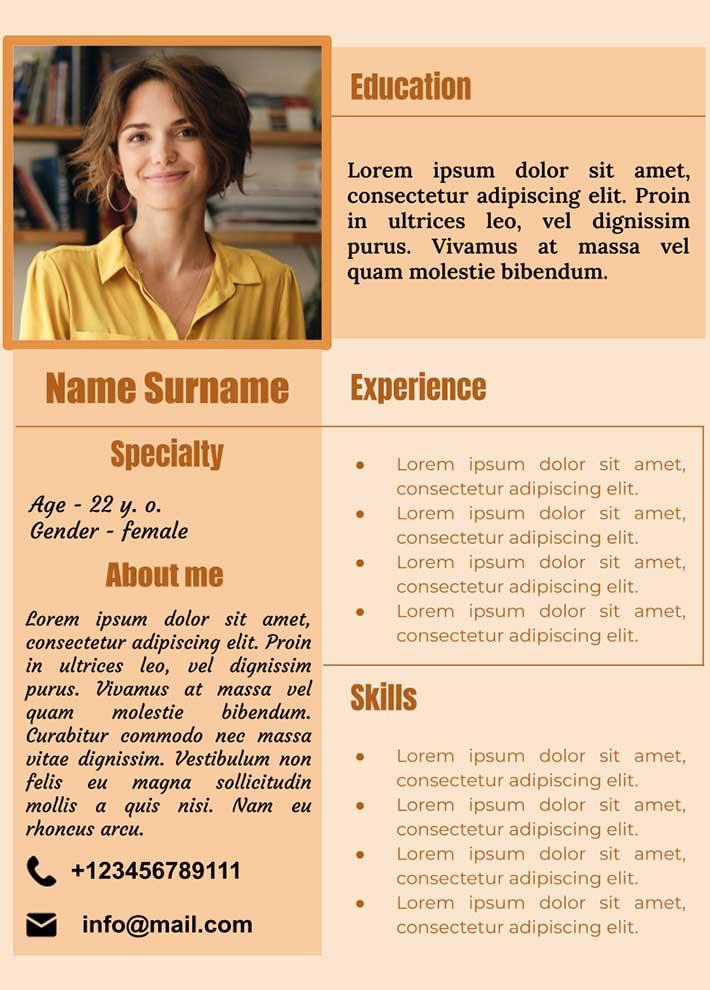 Job Resume for Google Docs