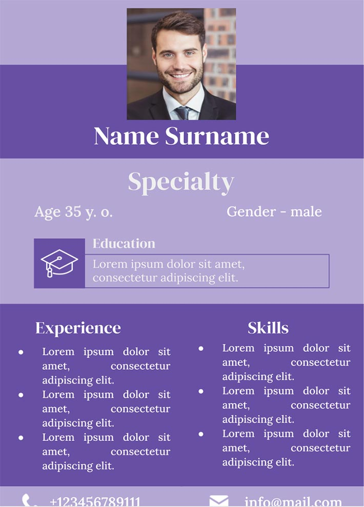 Combination Resume Template for Google Docs