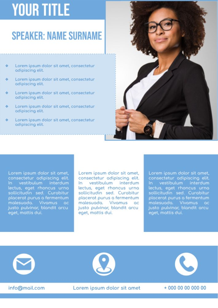 Business Conference Brochure Template for Google Docs