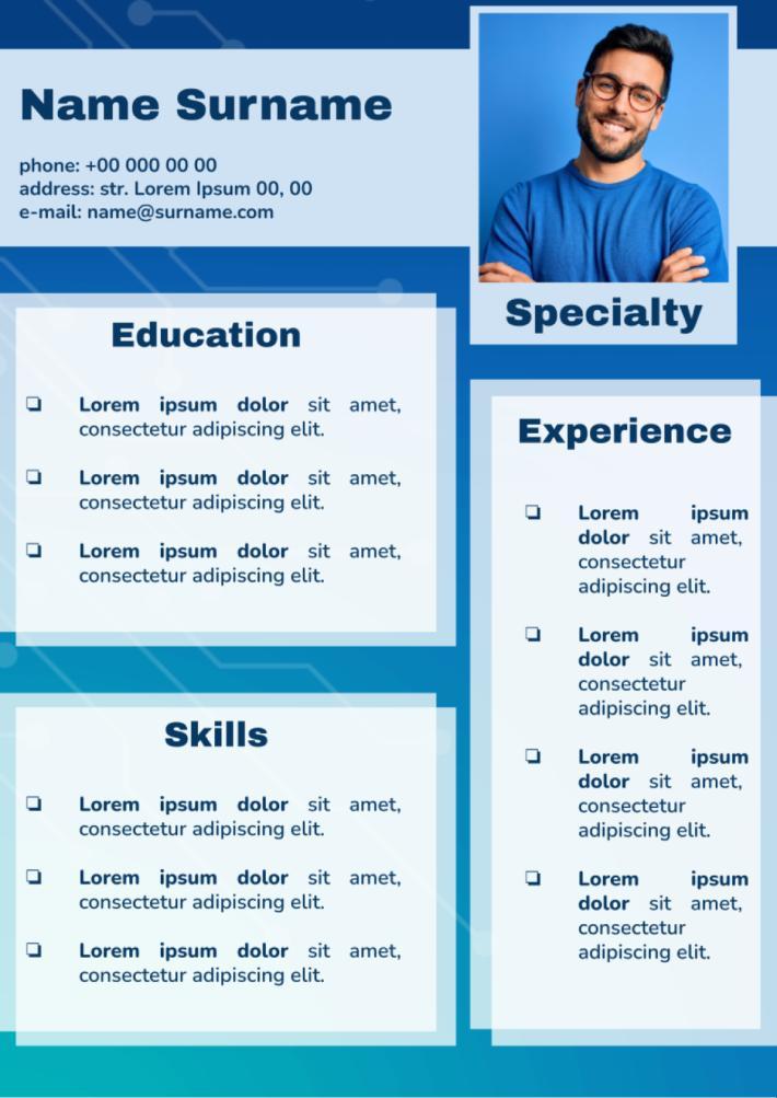 Basic CV Template for Google Docs