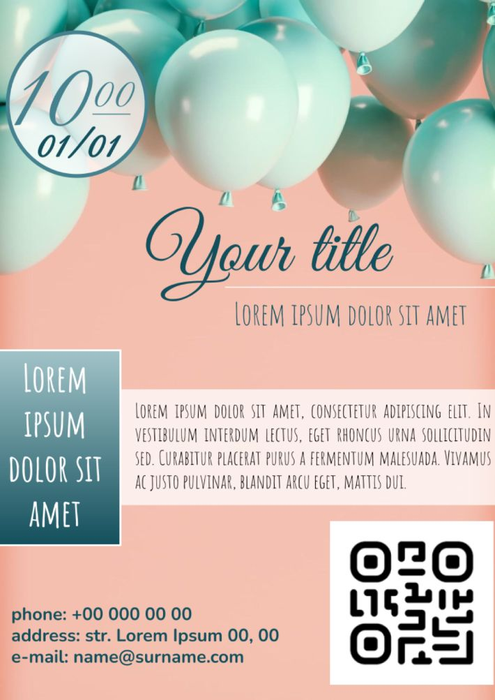 Party Flyer Template for Google Docs