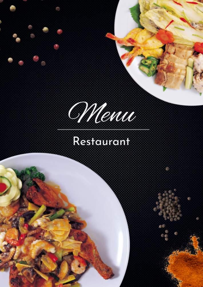 Restaurant Menu Template for Google Docs